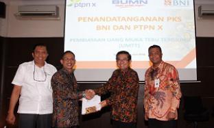 PTPN X dan BNI Kerjasama Pembiayaan untuk Petani