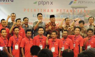 PTPN X Gandeng Pertamina Adakan Pelatihan Petani Tebu Generasi Milenial