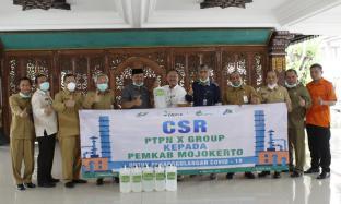PTPN X Group Dukung Pemkab Mojokerto dengan Program CSR Disinfektan