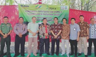 PG Djombang Baru Salurkan Bantuan Normalisasi Patusan