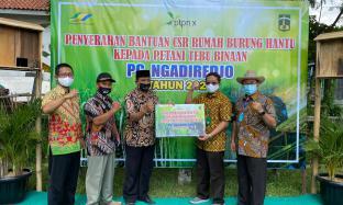 Salurkan CSR, PTPN X Berikan Rumah Burung Hantu